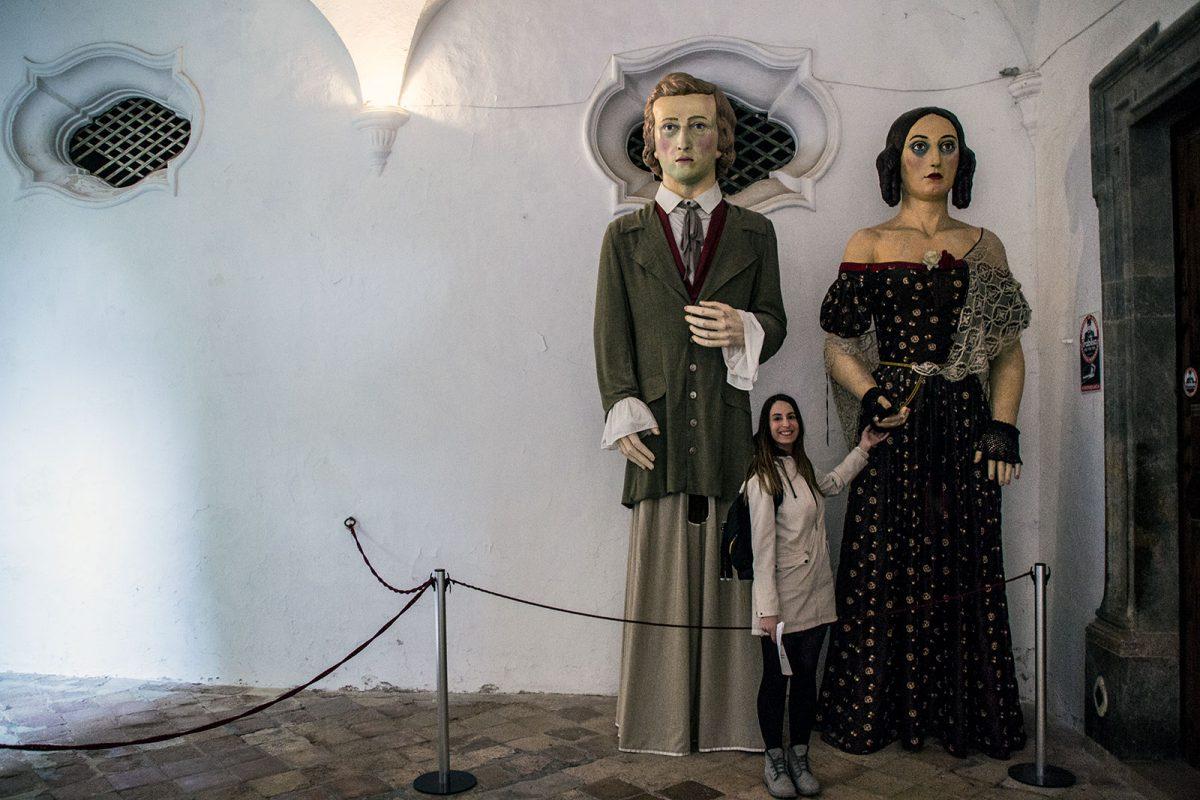 Nerea en el monasterio de Valldemosa - Pueblos más bonitos de Mallorca
