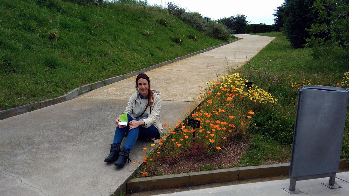 Nerea en el parque botánico