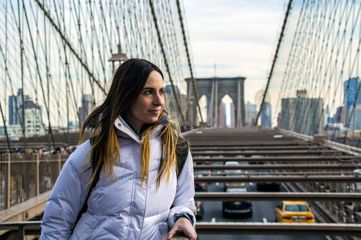Nerea en el puente de Brooklyn - excursiones desde Nueva York