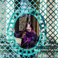 Nerea haciendo el tonto en el jardín del Palacio de Sanssouci – día 3 en Berlín