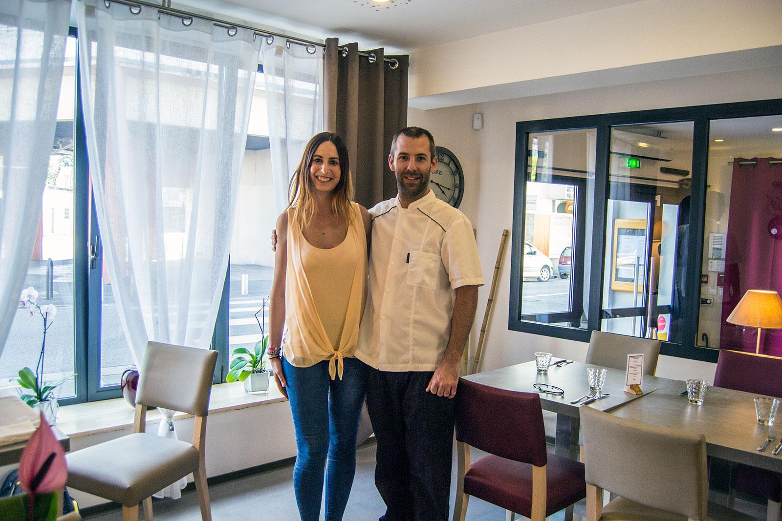 Nerea y Manuel chef y dueño de L'empreinte