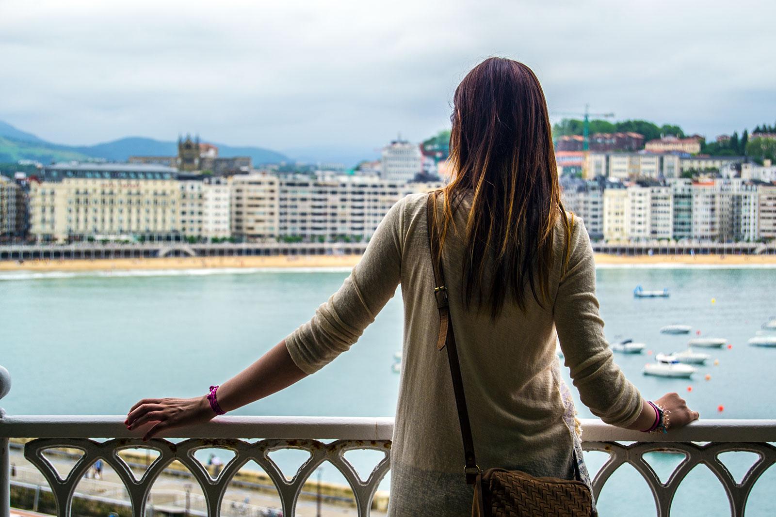 Nerea y el puerto de San Sebastián