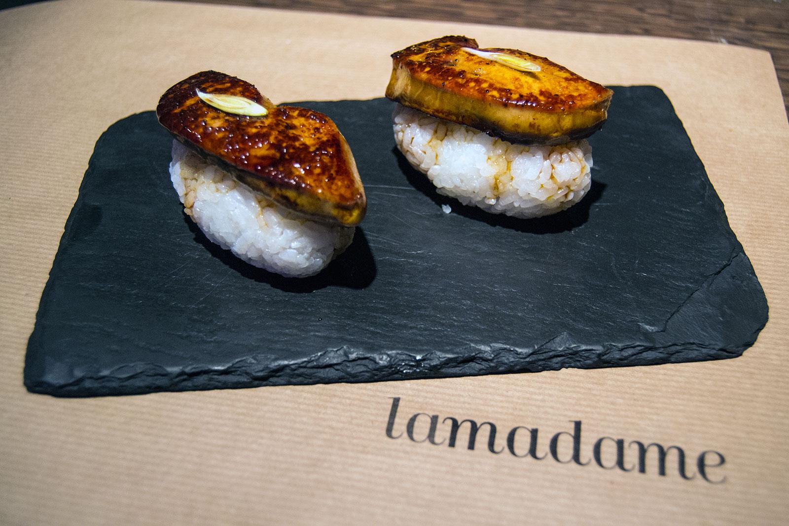 Nigiri de foia al estilo Unagi - Lamadame