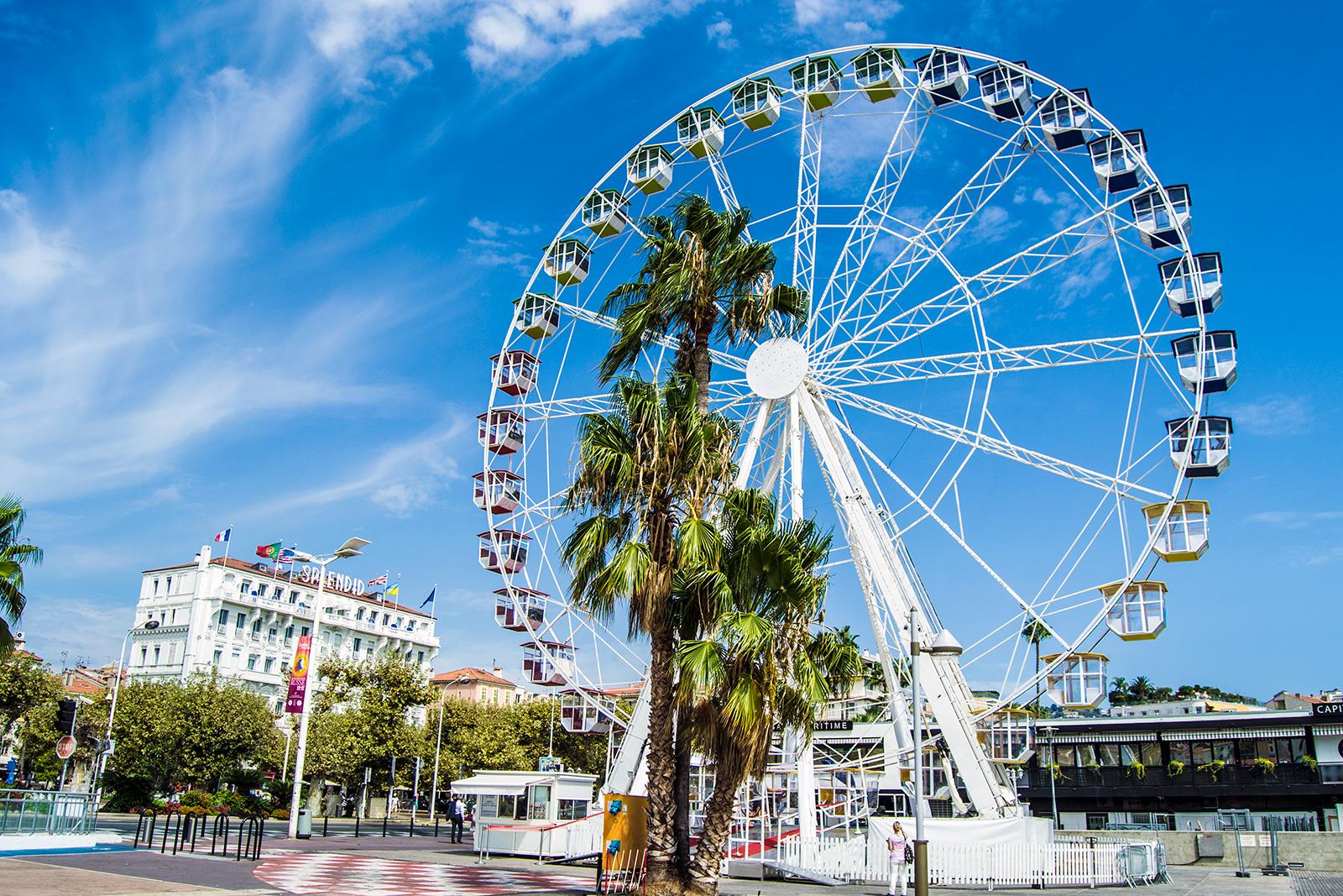Noria del puerto de Cannes - Cannes en un día