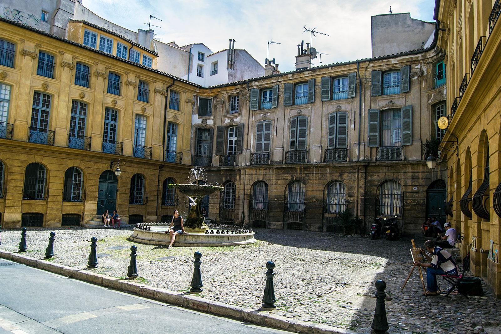Place d'Albertas en Aix en Provence - Aix en Provence y Béziers