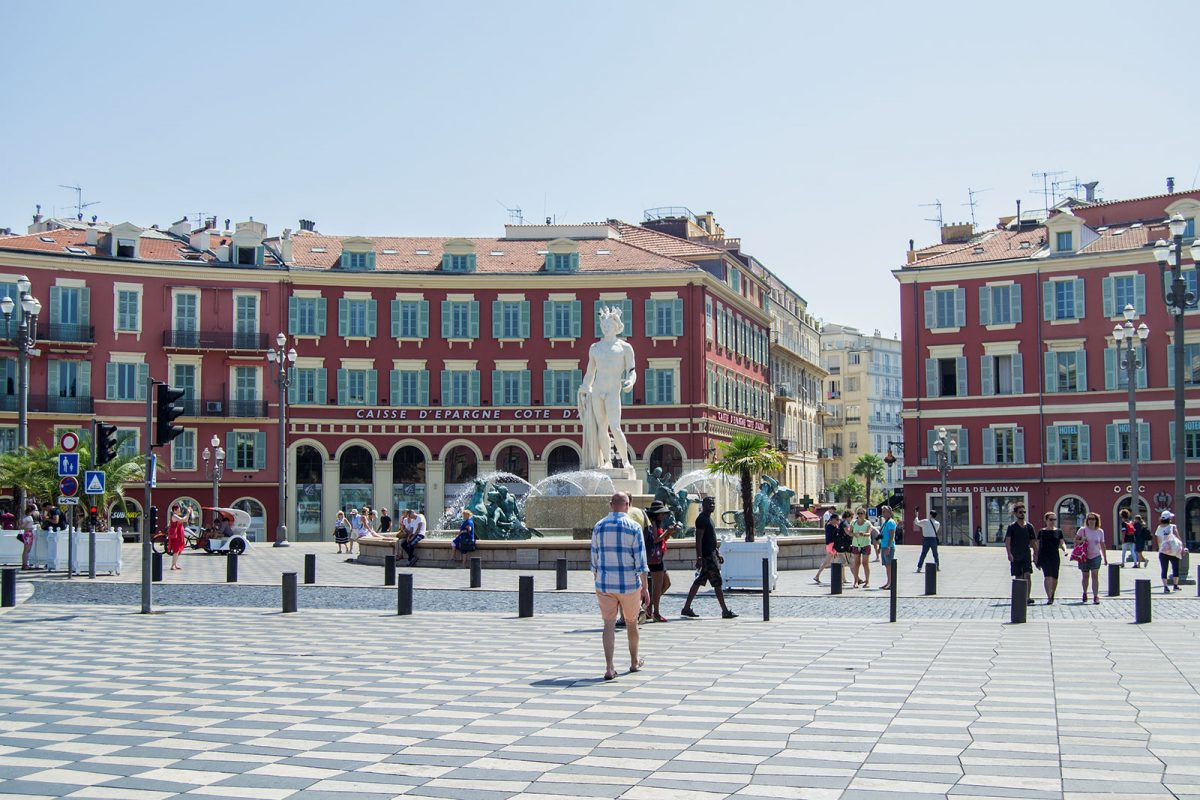 Plaza Massena Niza - un día en Niza y Montecarlo