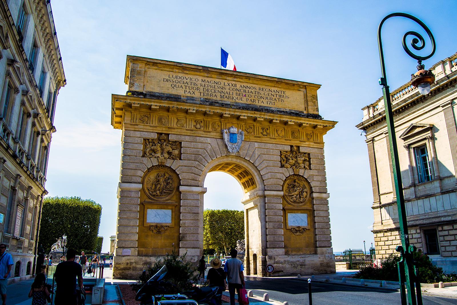 Porte du Peyrou en Montpellier