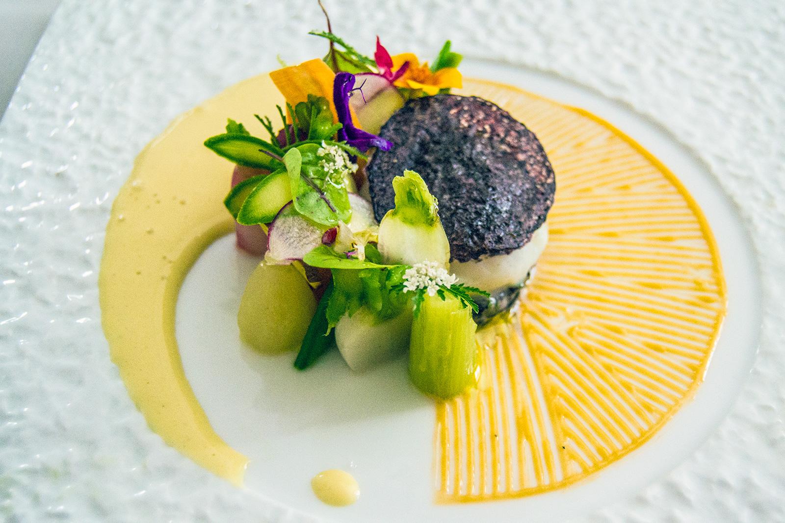 Primer plato restaurante Jerôme Nutille