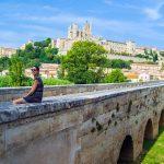 Puente de Béziers con la Catedral al fondo - regreso Costa Brava