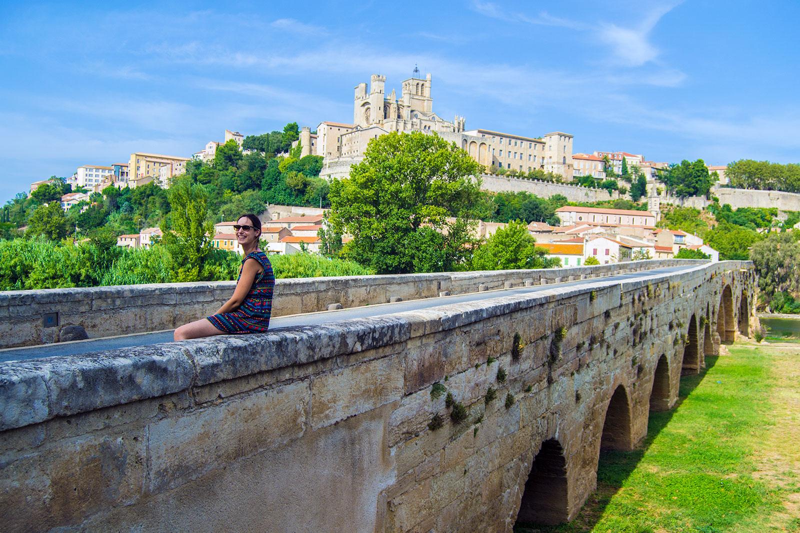 Puente de Béziers con la Catedral al fondo - Aix en Provence y Béziers