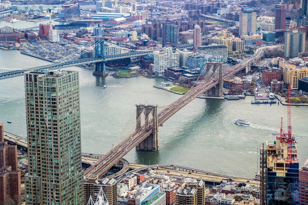 Puente de Brooklyn desde Freedom Tower - Mejores vistas de Nueva York