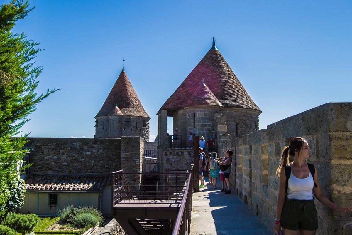 Recorrido por las murallas del Castillo Condal de Carcassonne 8