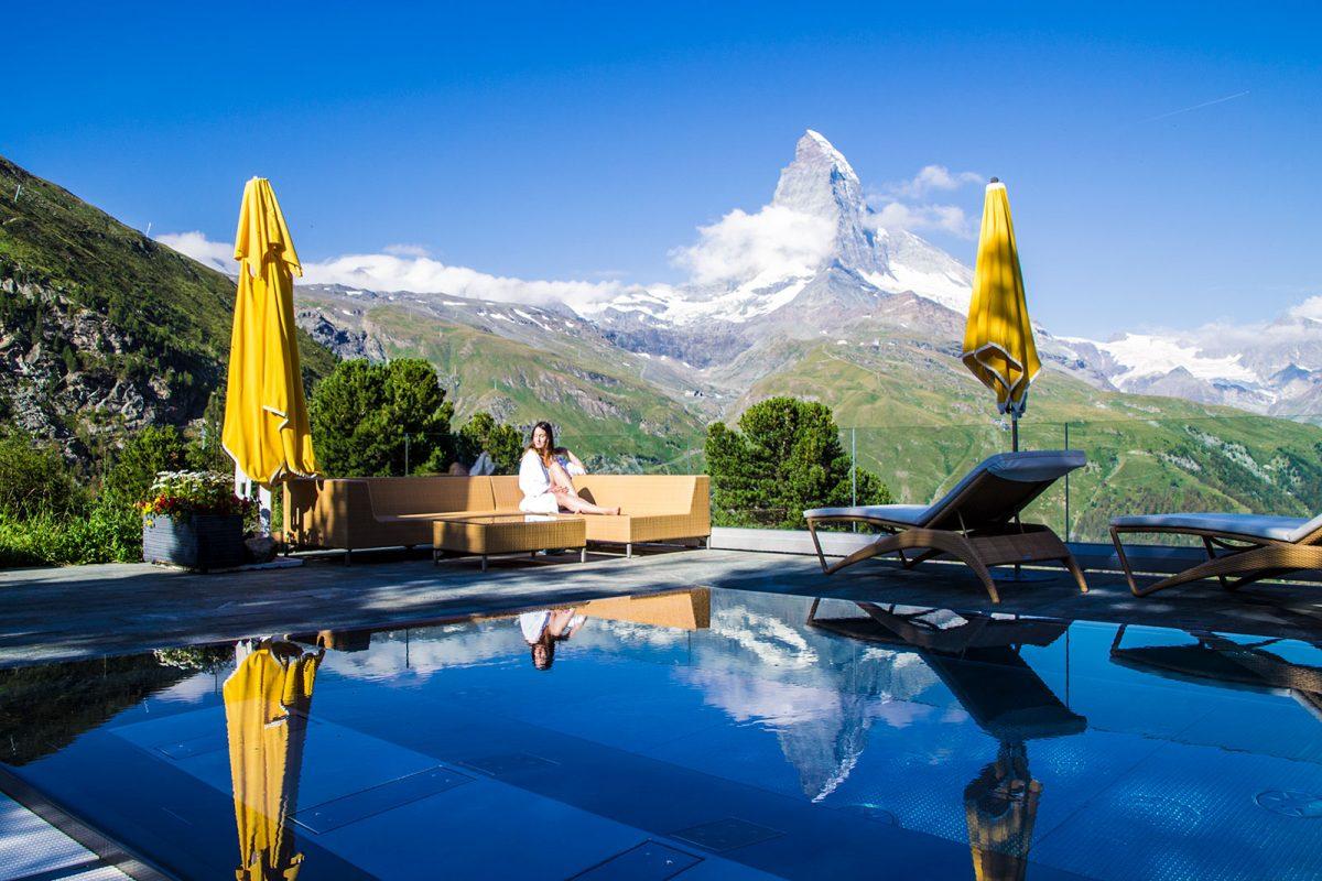 SPA con vistas al Cervino del Riffelalp Resort 2222m – Zermatt en dos días
