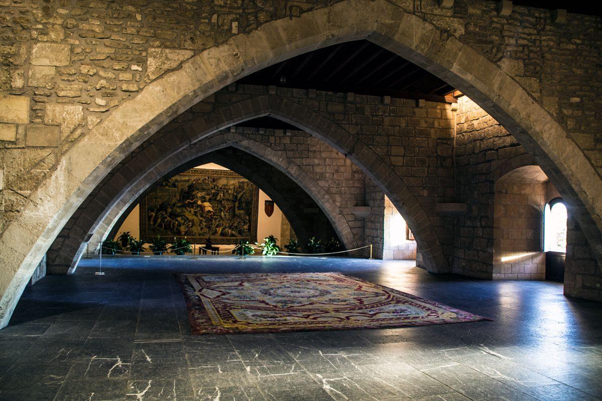 Sala Palacio real de la Almudaina - qué ver en Mallorca