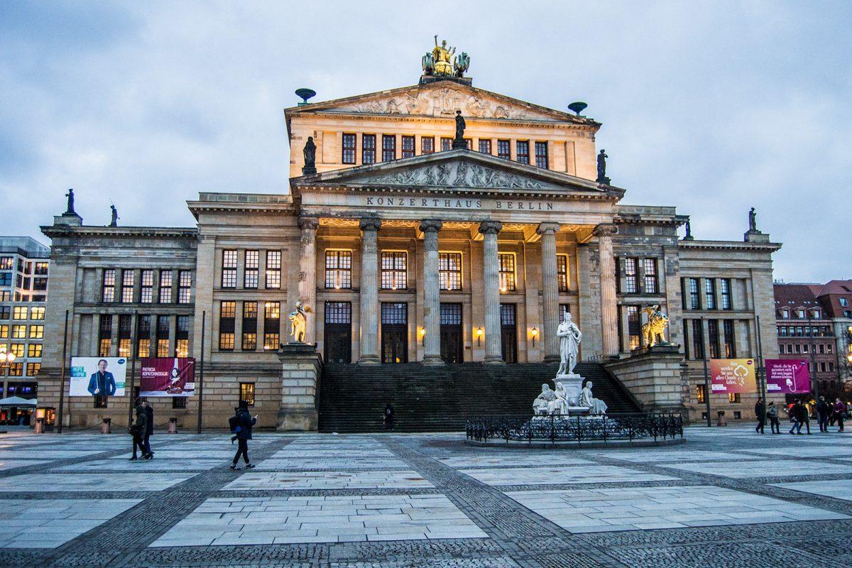Sala de conciertos de Berlín de la plaza Gendarmenmarkt - día 1 en berlín
