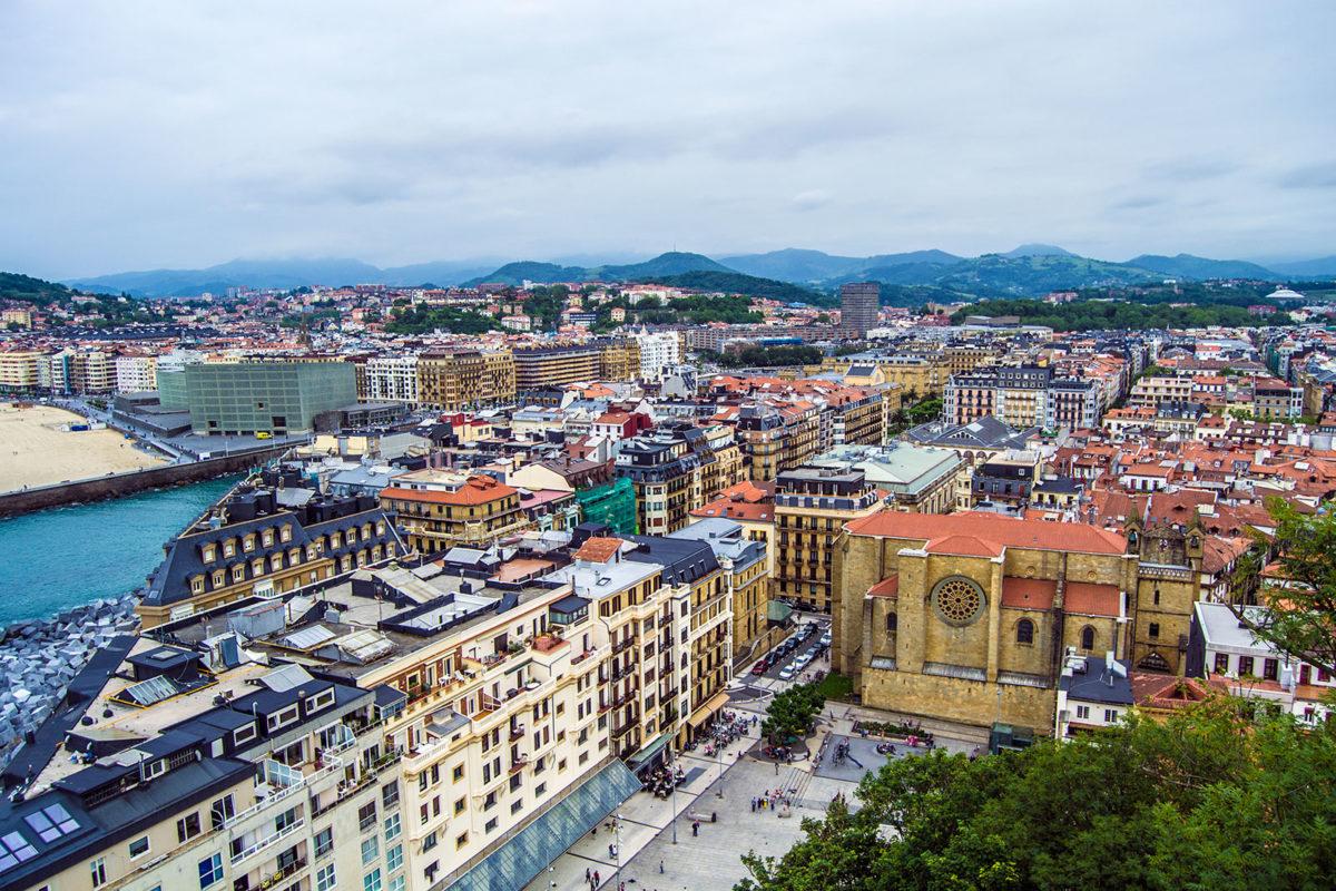 San Sebastián desde el monte Urgull