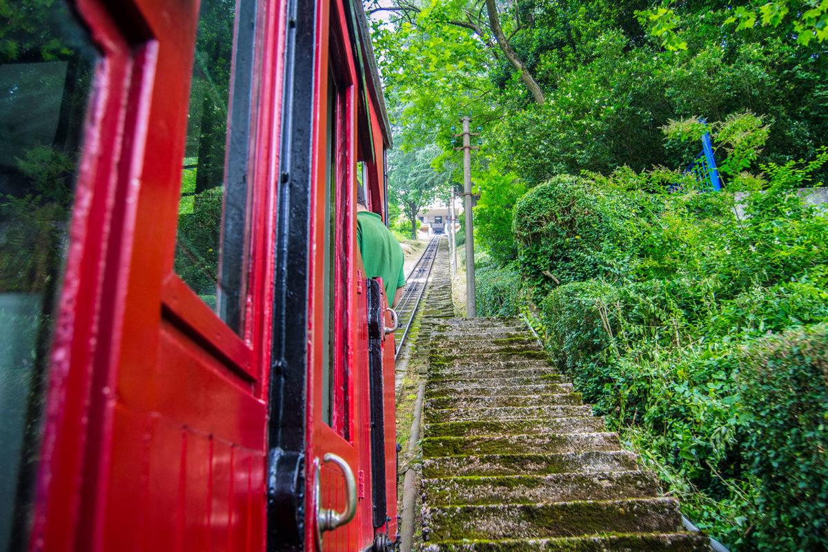 Subida en el funicular del Monte Igueldo