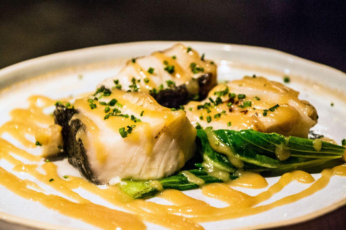 Tacos de bacalao negro marinado en miso y pack choi - Restaurantes Mallorca