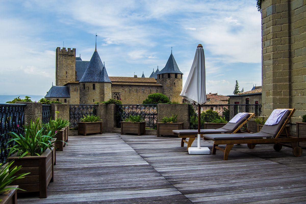 Terraza del Hotel de la Cité Carcassonne