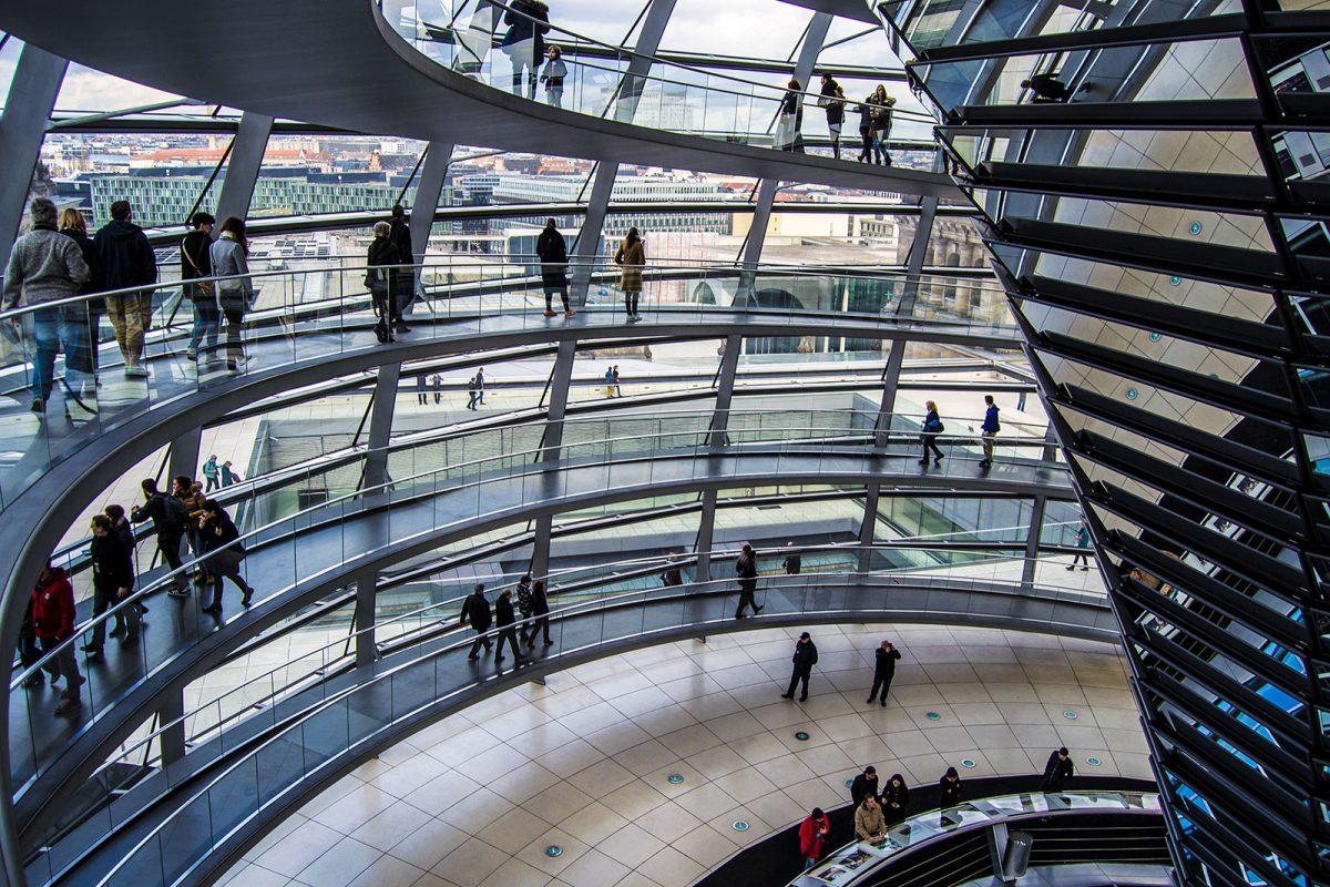 Visita a la cúpula del Reichstag - día 4 en Berlín