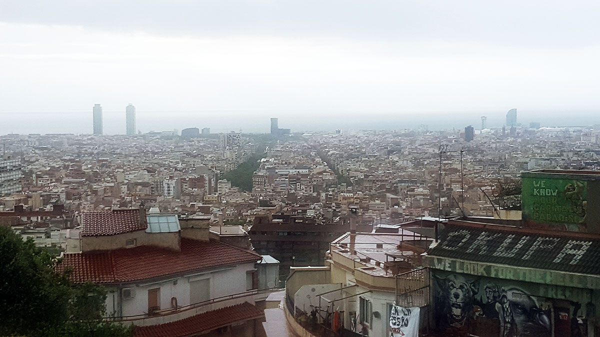 Vistas de Barcelona desde el parque Güell
