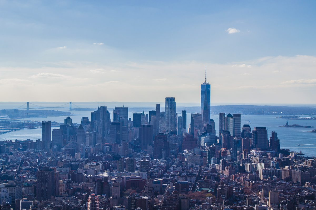 Vistas de Lower Manhattan desde el Empire State Building