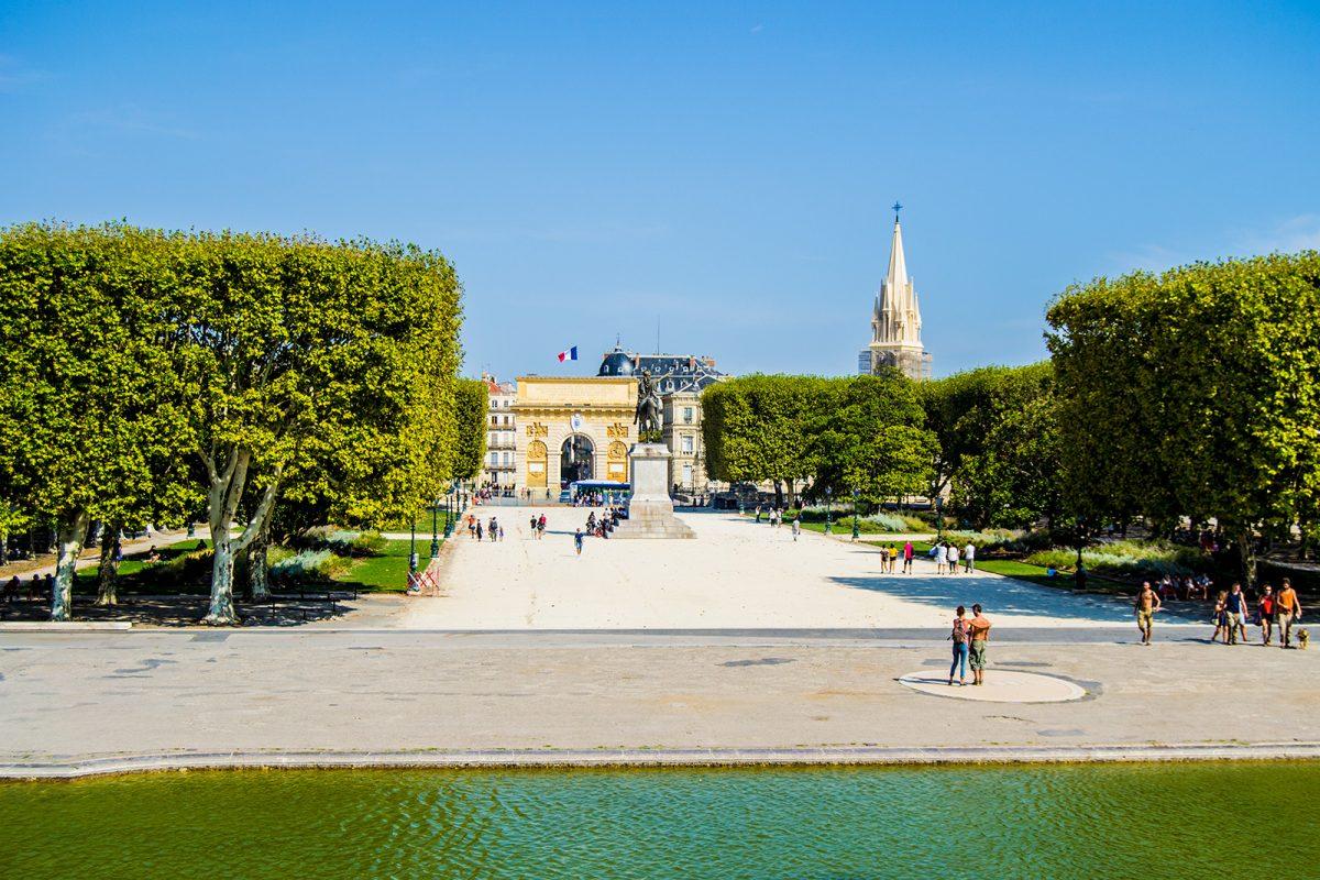 Vistas de la Puerta du Peyrou desde Promenade du Peyrou - qué ver en Montpellier