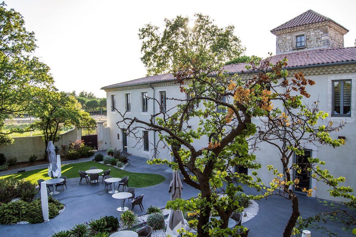 Vistas de la terraza desde nuestra habitación en el hotel Mas de Boudan