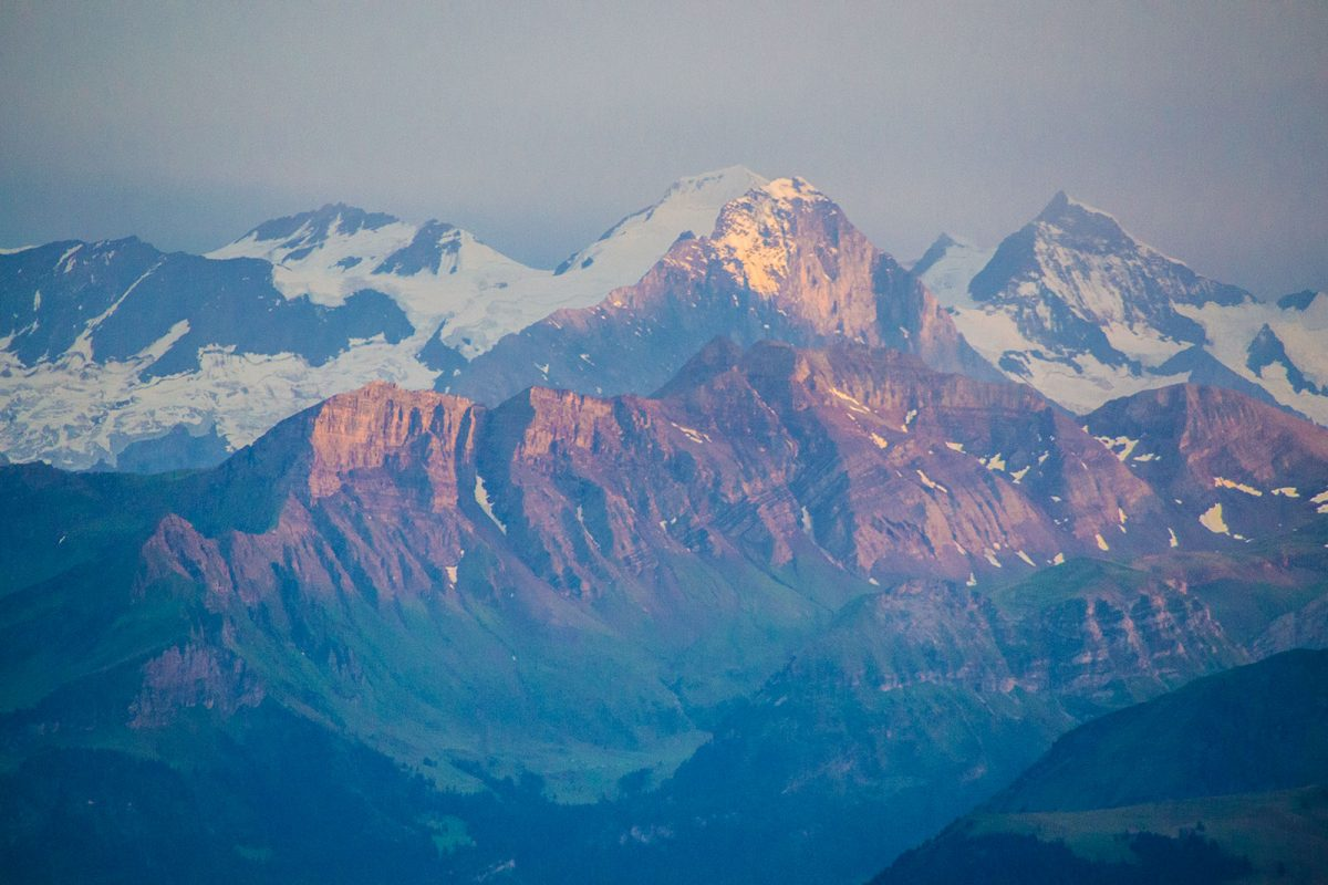 Vistas de los Alpes desde el Mt. Pilatus