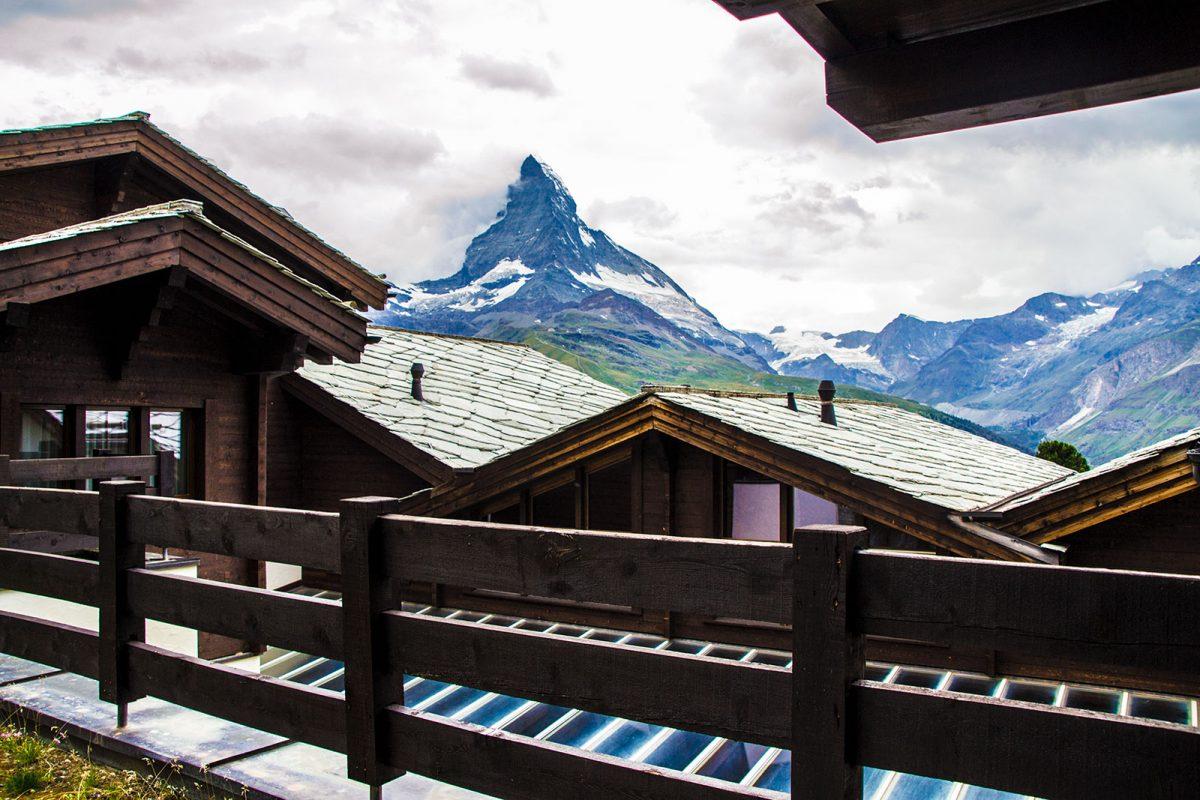 Vistas del Cervino desde la terraza de nuestra habitación – Zermatt en dos días