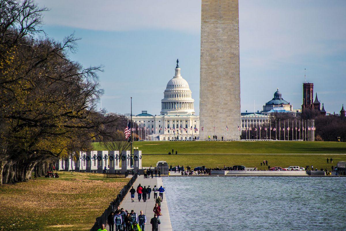Vistas del capitolio desde el Monumento a Lincoln - excursiones desde Nueva York