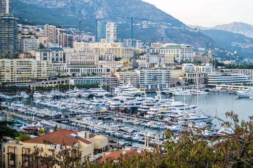 """Vistas del puerto de Montecarlo desde """"Le Rocher"""""""
