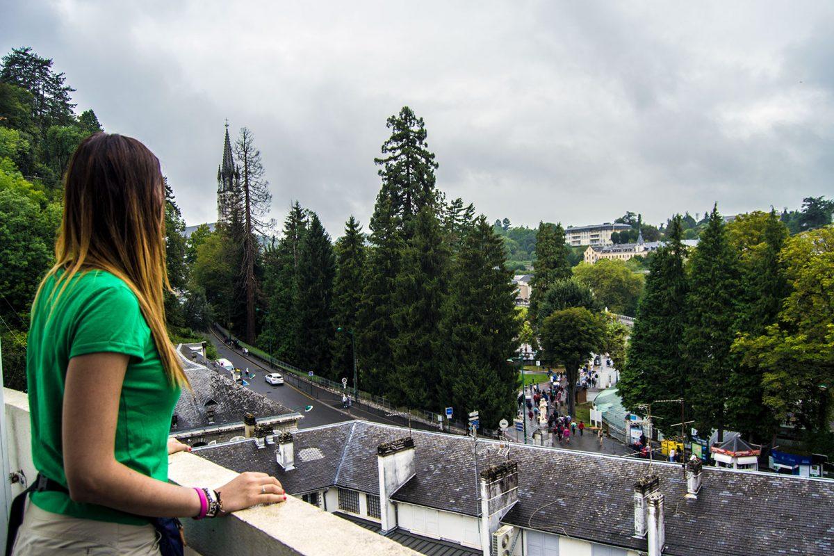 Vistas desde el Hotel Panorama de Lourdes