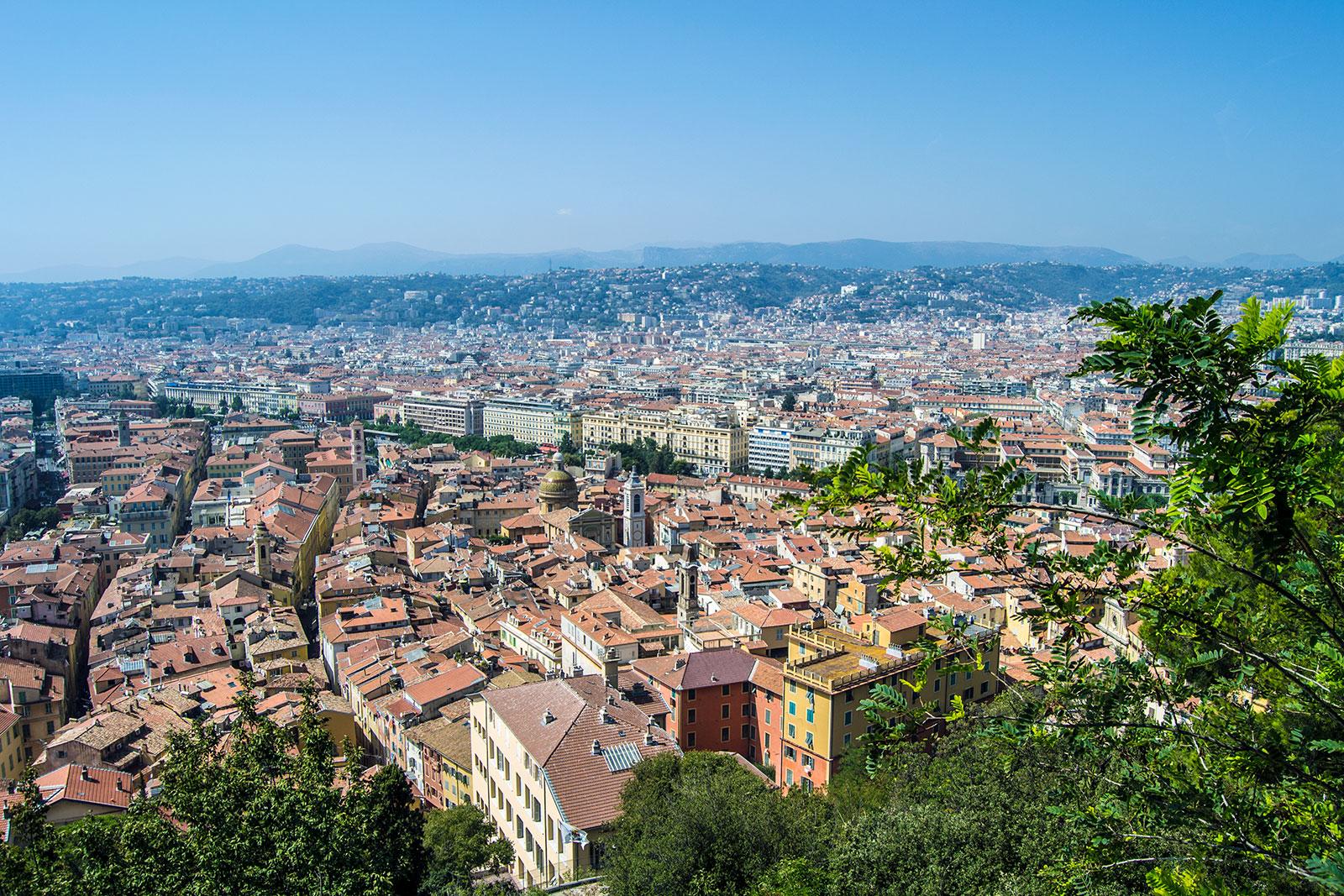 Vistas desde el antiguo castillo de Niza - una mañana en Niza