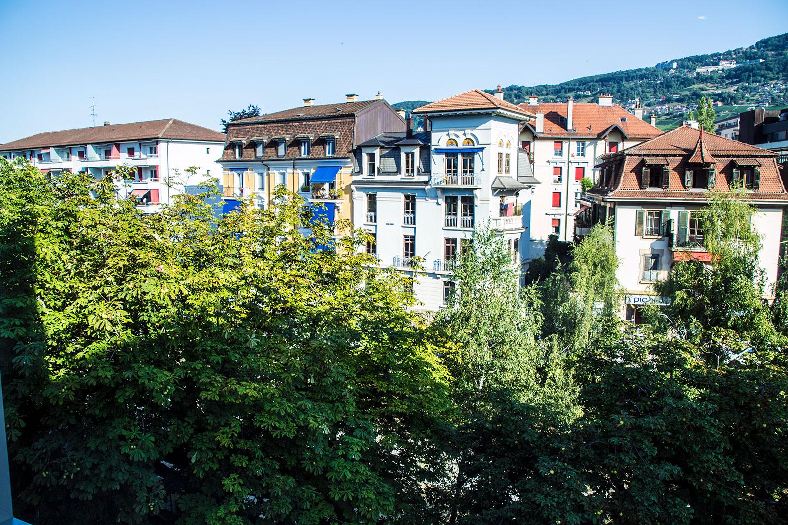 Vistas desde el apartamento de Base Vevey