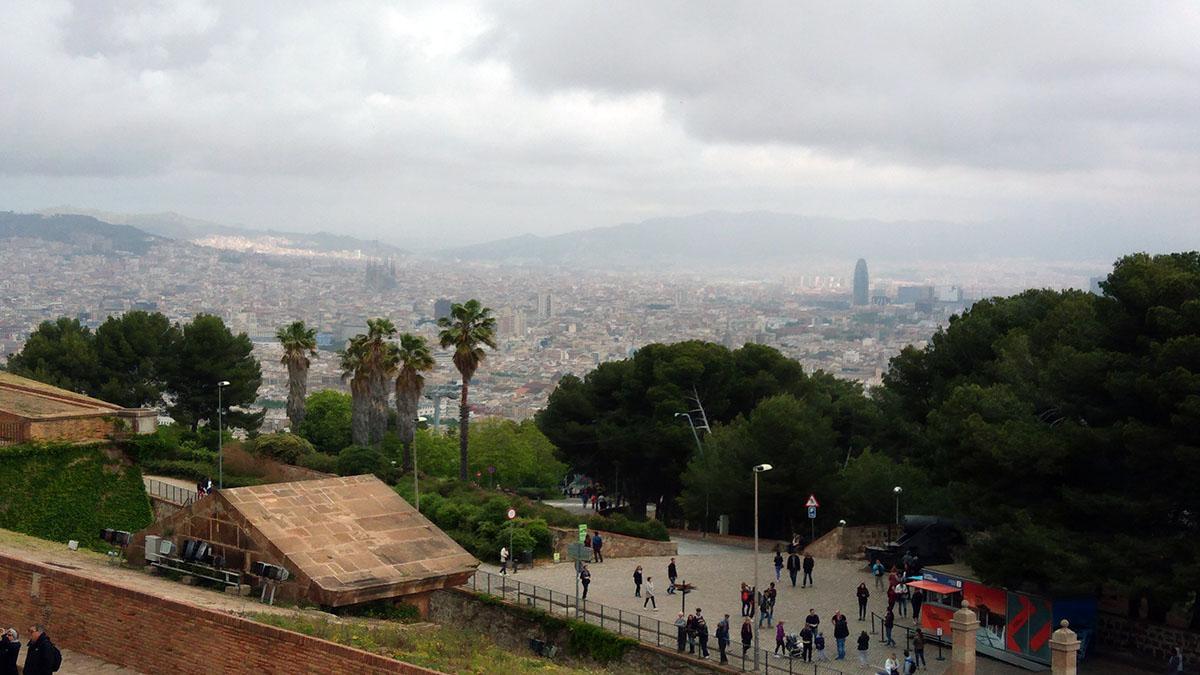 Vistas desde el castillo de Montjuic