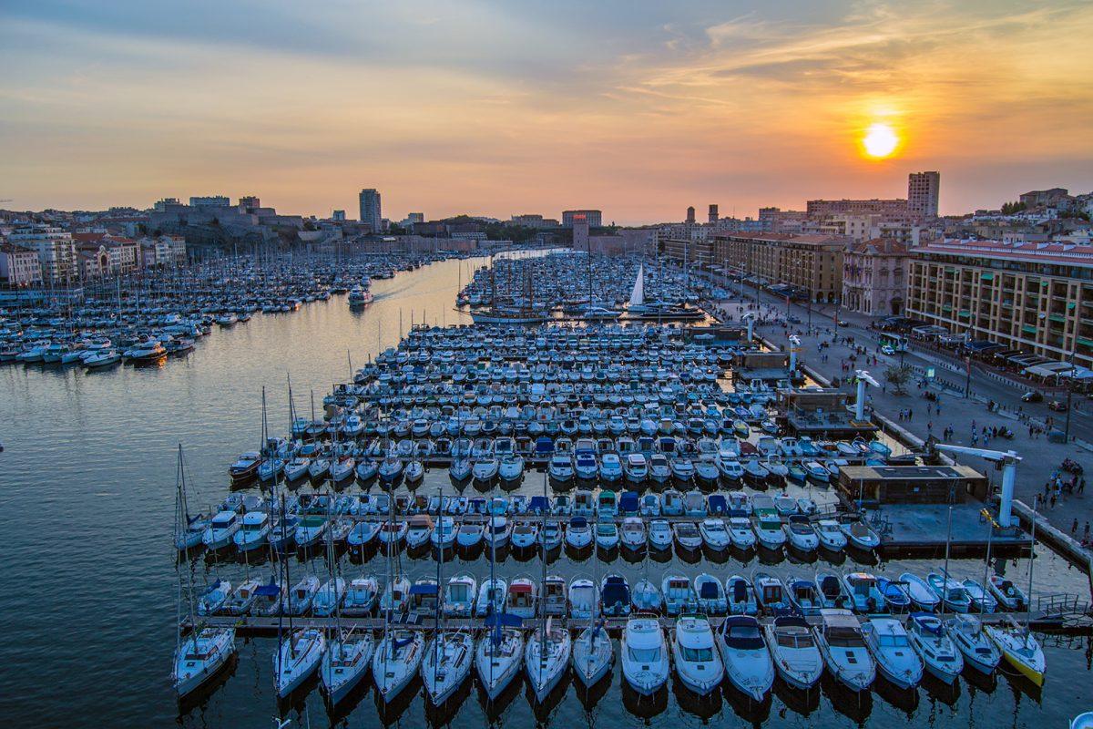 Vistas desde la noria del puerto de Marsella 2