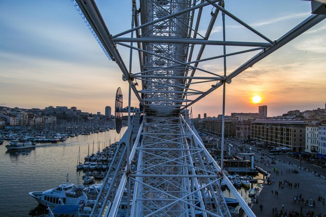Vistas desde la noria del puerto de Marsella 3