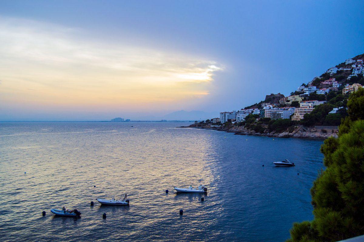 Vistas desde la terraza del Hotel Vistabella - regreso Costa Brava