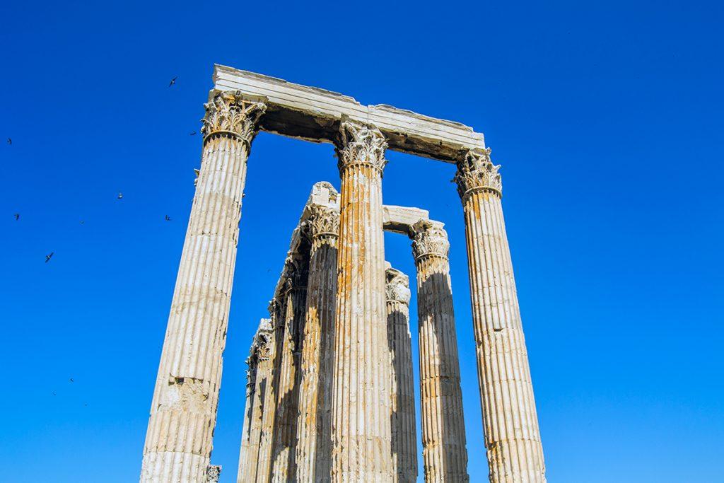 Imprescindibles de Atenas - Templo de Zeus con pájaros