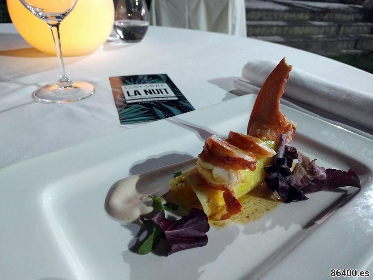 """""""Cocktail de piña Gayarre"""" con bogavante"""