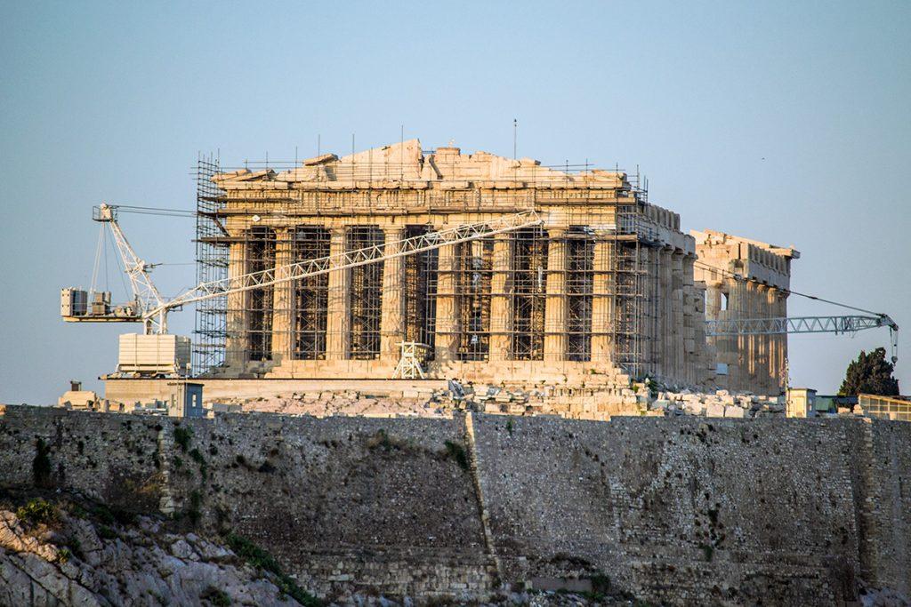 Obras en el Partenón de Atenas - Athens Photo Tour - formas alternativas de ver Atenas