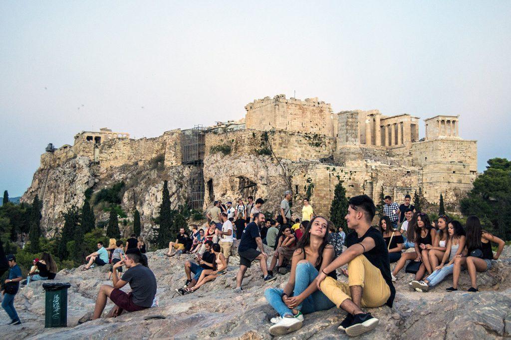 Recorrido tour al atardecer en bicicleta won We-Bikes Atenas - formas alternativas de ver Atenas