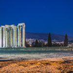 Templo Zeus - Recorrido tour al atardecer en bicicleta won We-Bikes Atenas