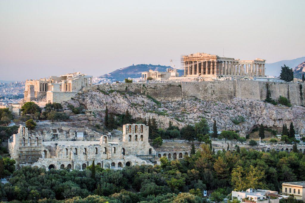 Vistas de la Acrópolis al atardecer - Athens Photo Tour - formas alternativas de ver Atenas