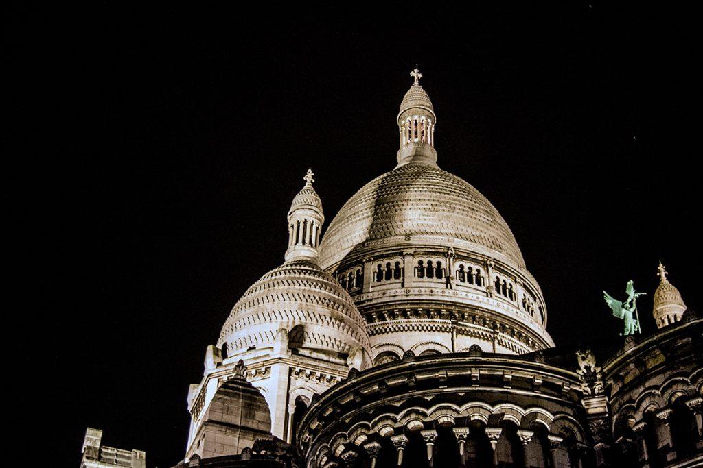 Vistas del Sacre Cour de noche- Qué ver en Montmartre