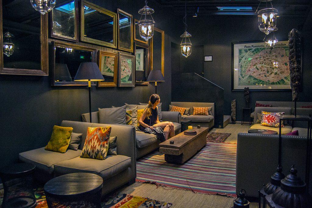 Zonas comunes de recreo en el hotel Pulitzer París - Qué ver en Montmartre