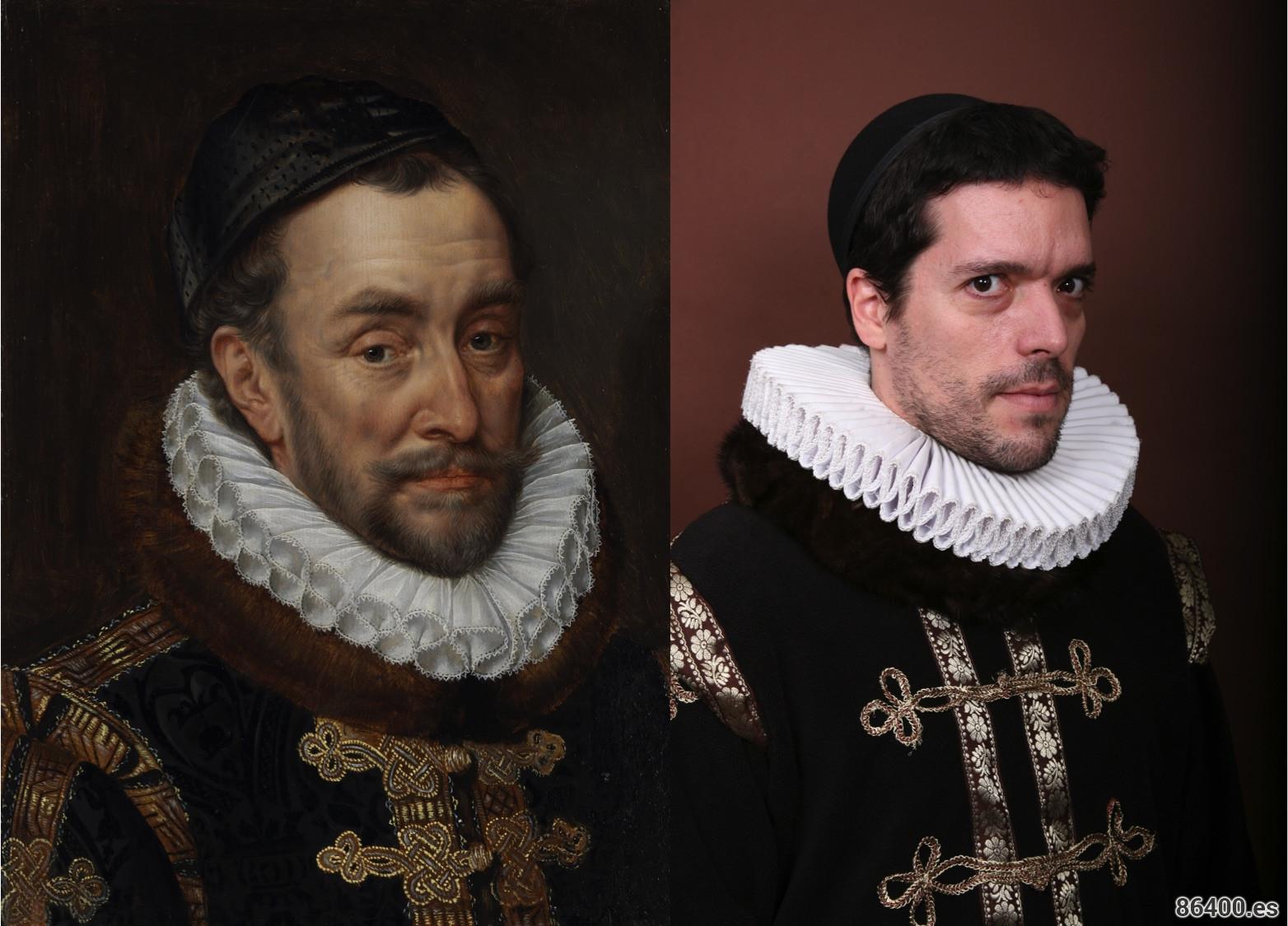 Alex protagonizando el famoso retrato de Retrato del príncipe de Orange de Adriaen Thomasz Key