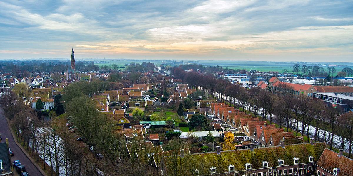 Vistas de Edam desde el campanario del Grote Kerk – Edam y Volendam