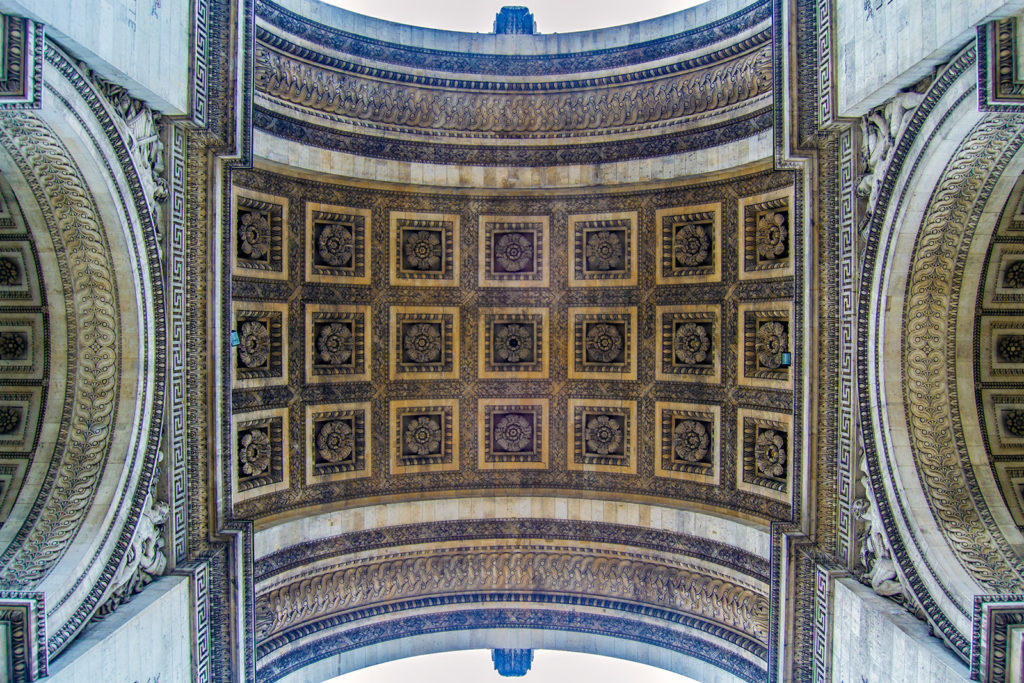 Cruzando el Arco del Triunfo – París Pass de dos días
